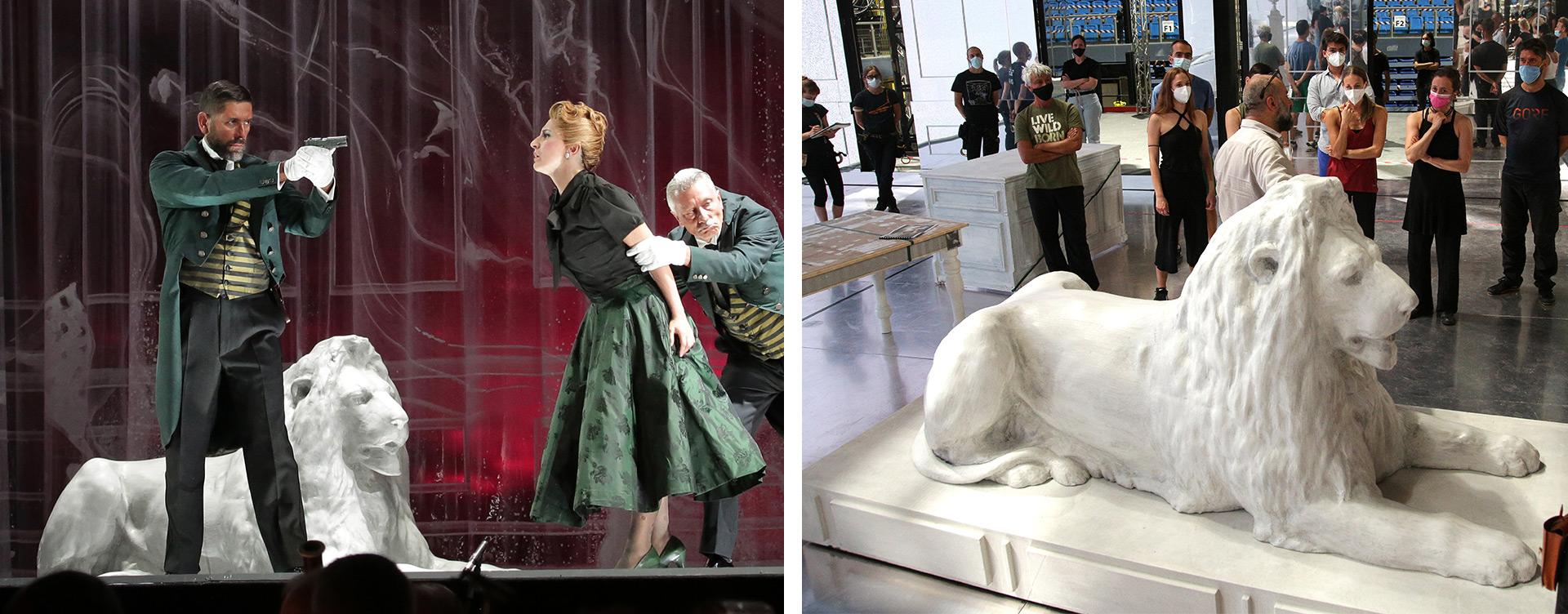 Leone fresato Rossini Opera Festival